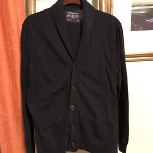 Mens thin button up cardigan with pockets small